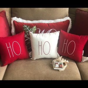 Rae Dunn set of 3 hohoho pillows